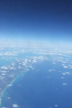 aerial view carribbean atlantic ocean bahamas bermuda cuba turks islands clouds sea abstract bahamian