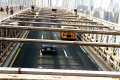 traffic brooklyn bridge new york american yankee usa nyc manhattan school bus busy landmark historic cars travel hudson big apple united states