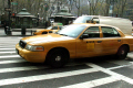 yellow taxi cab new york city american yankee traffic car transport driving manhattan nyc big apple united states