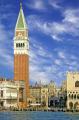 venice piazza san marco campanile. italian european waterfront venezia venecia italy italia piazzetta palazzo ducale cirrus sky venitian italien italie