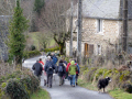 group walkers monedieres region southern limousin friends friendship buddies pals groups forest monédières winter valley hikers hiking ramblers rambling walking promenade randonnee correze france la francia frankreich french