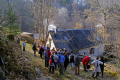 group walkers moulin-de-boulou moulin de boulou moulindeboulou corrèze river southern limousin friends friendship buddies pals groups forest monedieres monédières winter valley hikers hiking ramblers rambling walking promenade randonnee rain squall rainbow correze france la francia frankreich french