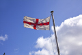 flag st george flying sheffield south yorkshire flags abstracts pole blue sky red white england english angleterre inghilterra inglaterra united kingdom british