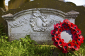 poppy wreath bradfield south yorkshire uk monuments british architecture architectural buildings memorial remembrance war dead sheffield england english angleterre inghilterra inglaterra united kingdom