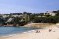 beach sant pol spanish resort agaro catalunya catalonia espana european església espagne españa sandy bay holiday platja costa brava spain spanien la spagna