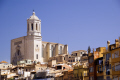 girona spain looking rooftops cathedral catalunya catalonia spanish espana european església church tower religious catholic espagne españa catedral costa brava spanien la spagna