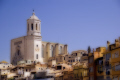 girona spain looking rooftops cathedral catalunya catalonia spanish espana european església church tower religious catholic espagne españa catedral artistic photoshop digital arts costa brava spanien la spagna