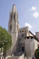 girona spain. collegiate church sant feliu catalunya catalonia spanish espana european catedral església saint felix spire steeple espagne españa costa brava spain spanien la spagna