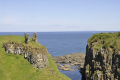 dunseverick castle historical britain history science ruins cliff giants causeway atlantic ocean blue sky county antrim aontroim northern ireland ulster irish irland irlanda united kingdom british