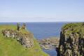 dunseverick castle historical britain history science ruins cliff giants causeway atlantic ocean blue sky county antrim aontroim northern ireland ulster irish irland irlanda united kingdom british
