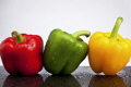 red green yellow peppers food nourishment nutrients abstracts capsicum fresh cooking ingredients united kingdom british