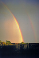 strong double rainbow apartments minneapolis. sky natural history nature minnesota meteorology weather rain shower storm thunder united states american