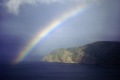 strong rainbow lynmouth bay devon sky natural history nature shower rain weather meteorology foreland point exmoor lynton countisbury kipscombe head common hill devonian england english angleterre inghilterra inglaterra united kingdom british