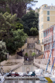 corsica steps leading old harbour bastia. french buildings european haute-corse haute corse hautecorse port marina haven quayside corse france la francia frankreich