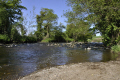 river bush near stranocum uk rivers waterways countryside rural environmental bank fishery water shingle county antrim aontroim northern ireland ulster irish irland irlanda united kingdom british