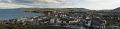 panorama overlooking peel town isle man winter snow hills uk coastline coastal environmental high manx england english angleterre inghilterra inglaterra united kingdom british