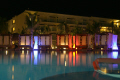 reflections sunbeds shimmer evening pool hotels sensatori riviera maya swimming caribbean mexico mexican