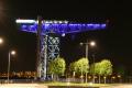 great titan crane clydebank bathed light night famous sights london capital england english river clyde scotland glasgow central scottish scotch scots escocia schottland united kingdom british