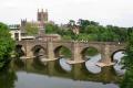 wye bridge hereford cathedral background. uk towns environmental herefordshire england english angleterre inghilterra inglaterra united kingdom british