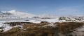 panorama snow covered hills grass verge. winter seasons seasonal environmental scotland glencoe highlands islands scottish scotch scots escocia schottland united kingdom british