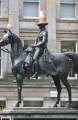 duke wellington statue famous parking cone head. image seagull horses uk statues british architecture architectural buildings city glasgow central scotland scottish scotch scots escocia schottland united kingdom