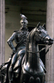 duke wellington statue pigeon head. uk statues british architecture architectural buildings horse famous historical glasgow central scotland scottish scotch scots escocia schottland united kingdom