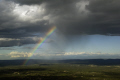 view mont bouquet languedoc-rouissillon languedoc rouissillon languedocrouissillon france looking north-east north east northeast catching rare phonomena rainbow virga clouds sky natural history nature gard landscape french cumulus meteorology weather anti-crepuscular anti crepuscular anticrepuscular skies cloud rain shower precipitation spokes languedoc-roussillon languedoc roussillon languedocro