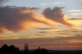 sunset virga clouds sky natural history nature landscape french cumulus meteorology weather skies cloud rain shower precipitation correze limousin france la francia frankreich