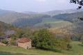 lot region france looking vallée mamoul near sousceyrac misty october morning french landscapes european autumnal rural farming midi-pyrénées midi pyrénées midipyrénées causses midi-pyrenees midi pyrenees midipyrenees la francia frankreich