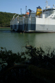 stern view moored ships river fal. known ghost fleet moth-balled moth balled mothballed recession fal falmouth cornwall cornish england english angleterre inghilterra inglaterra united kingdom british