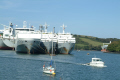 moored ships river fal. known ghost fleet moth-balled moth balled mothballed recession fal falmouth cornwall cornish england english angleterre inghilterra inglaterra united kingdom british