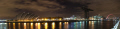 panoramic view river clyde night clydeside nationalities nations glasgow armadillo crane squinty bridge new city inn central scotland scottish scotch scots escocia schottland united kingdom british