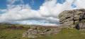 panoramic view dartmoor devon granite rocks moorland countryside rural environmental uk england great britain national park bonehill landscape geology rock formation scenic outcrop moor idyllic place boulder environment tors devonian english angleterre inghilterra inglaterra united kingdom british