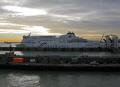 seafrance ferry moored dover harbour harbor uk coastline coastal environmental shipping boat english channel le manche port docks navigation maritime marine nautical kent england angleterre inghilterra inglaterra united kingdom british