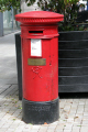 post box refused die. victorian miraculously survived ira bomb detonated nearby june 1996. office royal mail uk media communications manchester england english angleterre inghilterra inglaterra united kingdom british