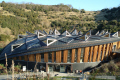 eden project core building innovative education centre. external tourist attractions england english botanical garden attraction architectural geodesic dome cornish cornwall angleterre inghilterra inglaterra united kingdom british