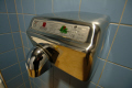hand dryer public toilets bathrooms washroom interiors inside british housing houses homes dwellings abode architecture architectural buildings united kingdom