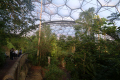 eden project people walkway rainforest biome tourist attractions england english botanical garden attraction architectural geodesic dome cornish cornwall angleterre inghilterra inglaterra united kingdom british