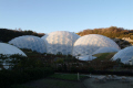 eden project biomes dark early inside reclaimed quarry tourist attractions england english botanical garden attraction architectural geodesic dome cornish cornwall angleterre inghilterra inglaterra united kingdom british