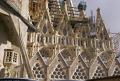 barcelona antoni gaudi sagrada familia gothic passion facade catalunya catalonia spanish espana european catedral esgl sia church espagne espa towers steeple contruction cranes tico spain spanien la spagna