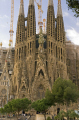 barcelona antoni gaudi sagrada familia nativity facade catalunya catalonia spanish espana european catedral esgl sia church espagne espa towers steeple contruction cranes spires fachada la natividad spain spanien spagna