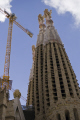 barcelona antoni gaudi sagrada familia nativity facade spires catalunya catalonia spanish espana european catedral esgl sia church espagne espa towers steeple contruction cranes fachada la natividad spain spanien spagna
