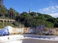 barcelona serpentine seating main terrace gaudi parc ell catalunya catalonia spanish espana european mosaic leisure park ornamental gardens espagne espa guell spain spanien la spagna