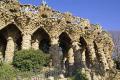 barcelona limestone collonade gaudi parc ell catalunya catalonia spanish espana european mosaic leisure park ornamental gardens espagne espa guell spain spanien la spagna