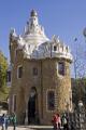 barcelona entrance buildings gaudi parc ell catalunya catalonia spanish espana european mosaic leisure park ornamental gardens espagne espa guell spain spanien la spagna