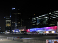 la defense paris place night french buildings european france parisienne commercial concourse business district francia frankreich