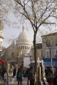 montmartre paris place du tertre sunday morning french buildings european parisienne france basilica catholic religious eglise church religion art square artistic restaurant bar sacre coeur sacr -coeur la francia frankreich