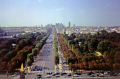 paris avenue des champs elys looking west arc triomphe tower blocks la defense. photo taken grande roue big wheel place concorde french buildings european park parc arch triumph gardens france capital parisienne francia frankreich