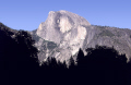 yosemite half dome evening wilderness california mountains alpine national park np californian