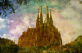 sagrada familia image layer style hard light spanish espana european catedral catalonia esgl sia church espagne espa towers ste barcelona spain spanien la spagna